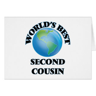 World's Best Second Cousin Stationery Note Card