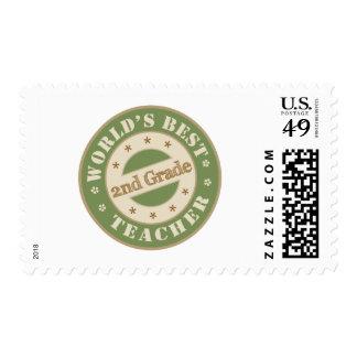 Worlds Best Second Grade Teacher Postage Stamps