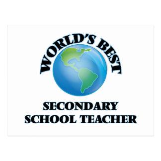 World's Best Secondary School Teacher Post Card