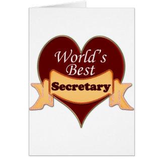 World's Best Secretary Greeting Cards