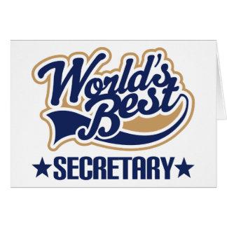 Worlds Best Secretary Card