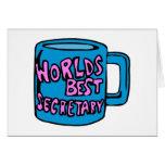 Worlds Best Secretary Greeting Card