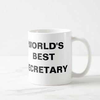 WORLD'S BEST SECRETARY COFFEE MUGS
