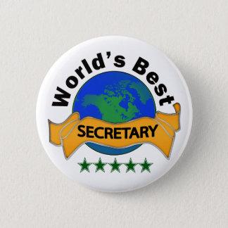 World's Best Secretary Pinback Button