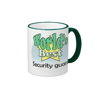 World's best Security Guard Ringer Coffee Mug