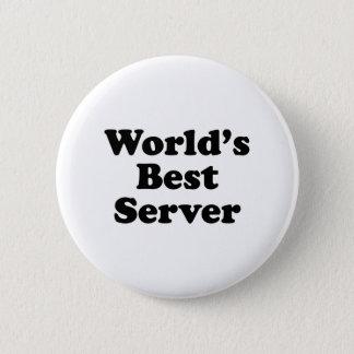 World's Best Server Pinback Button