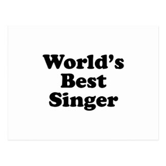 World's Best Singer Postcard