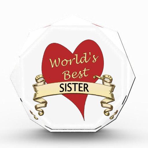 Worlds Best Sister Award Zazzle