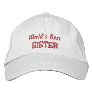 World's Best SISTER-Birthday Embroidered Baseball Hat