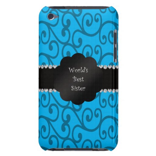 World's best sister blue swirls barely there iPod covers