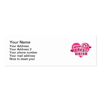 World's best sister business card template