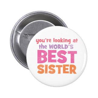 World's Best Sister Button