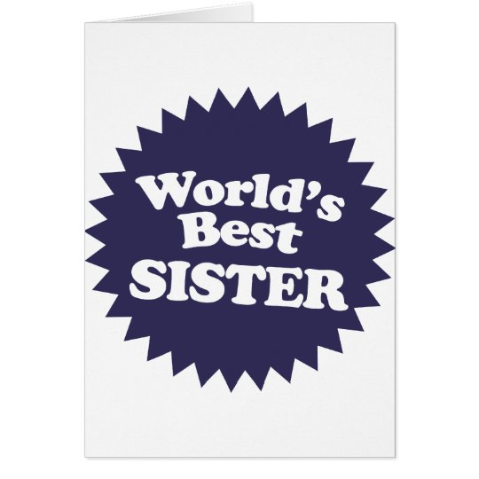 World's Best Sister Card