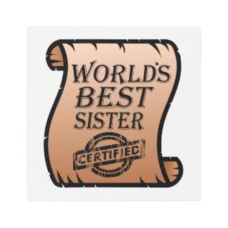 World's Best Sister Funny Certificate Metal Print