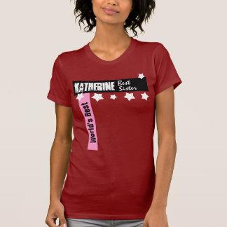 World's Best Sister Gift Stars and Bars T-shirt