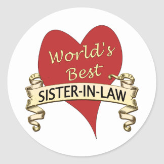 World's Best Sister-in-Law Classic Round Sticker