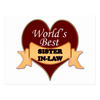 World's Best Sister-In-Law Postcard
