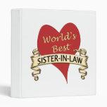 World's Best Sister-in-Law Vinyl Binders