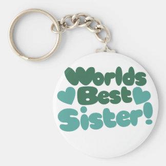 Worlds Best Sister Keychains
