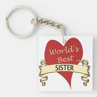 World's Best Sister Keychain