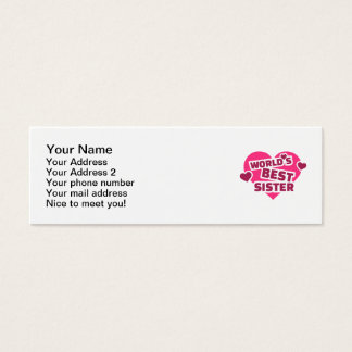 World's best sister mini business card