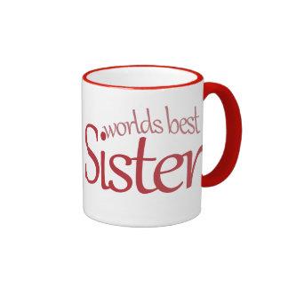 Worlds Best Sister Coffee Mugs