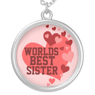 Worlds Best Sister (or any name) Silver Plated Necklace