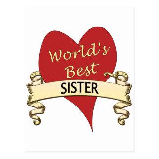 World's Best Sister Postcard