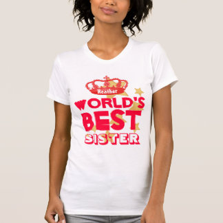 World's Best SISTER Red Crown and Stars V06 Tshirts