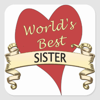 World's Best Sister Square Sticker
