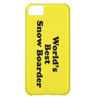 World's Best Snow Boarder Cover For iPhone 5C