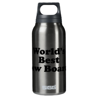 World's Best Snow Boarder Insulated Water Bottle