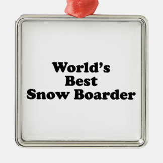 World's Best Snow Boarder Ornament