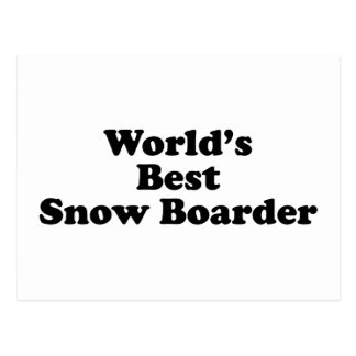 World's Best Snow Boarder Postcard