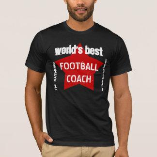 World's Best SOCCER COACH Custom Name V04 RED Star T-Shirt