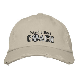 World's Best Soccer Coach Embroidered Baseball Hat