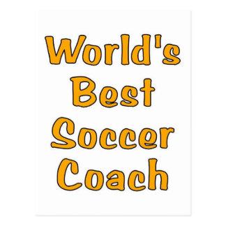 World's best Soccer coach gifts Postcard