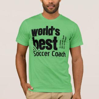 World's Best Soccer Coach Letters Custom Name T-Shirt