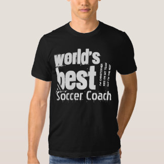 World's Best Soccer Coach Letters Custom Name Tee Shirt
