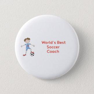 World's Best Soccer Coach Pinback Button