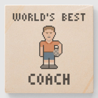 World's Best Soccer Coach Sandstone Coacher Stone Coaster