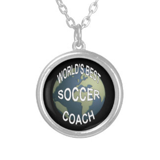 World's Best Soccer Coach Silver Plated Necklace