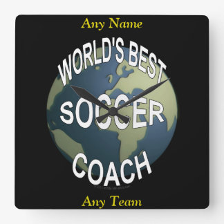World's Best Soccer Coach Square Wall Clock