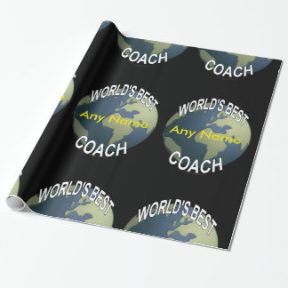 World's Best Soccer Coach Wrapping Paper