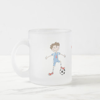 World's Best Soccer Player Frosted Glass Coffee Mug