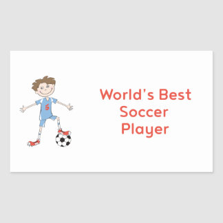 World's Best Soccer Player Rectangular Sticker