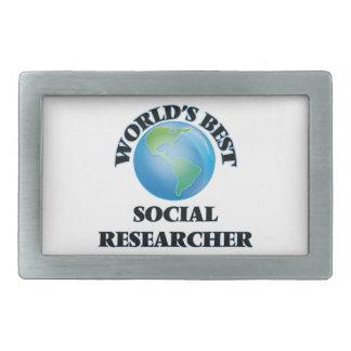 World's Best Social Researcher Belt Buckles
