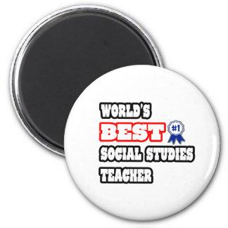 World's Best Social Studies Teacher 2 Inch Round Magnet