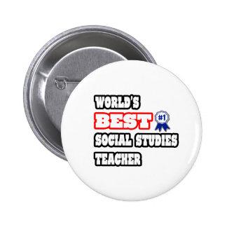 World's Best Social Studies Teacher Buttons