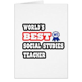 World's Best Social Studies Teacher Card